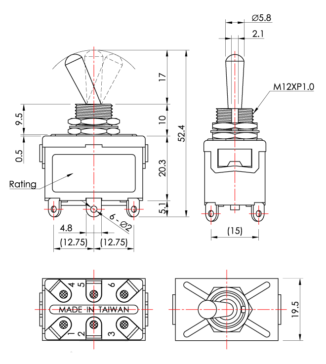 s1054 heavy duty toggle switch