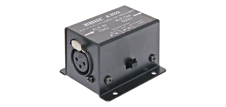 A2522 Line Isolation Transformer 10kΩ to 600Ω XLR