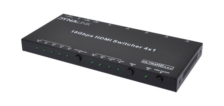 A3082 4 Way 4K HDMI Switcher With Audio Extractor & RS232
