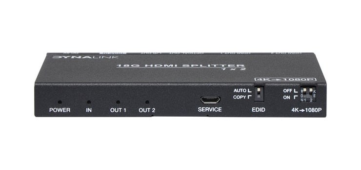A3112 1x2 HDMI Splitter With Downscaler & Audio Extractor