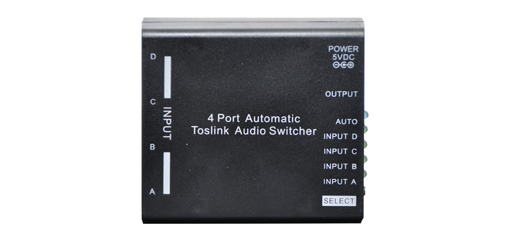 A3212 4 Way Auto Toslink S/PDIF Switcher
