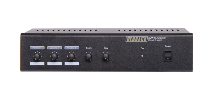A4031C 30W 3 Input 100V Public Address (PA) Amplifier