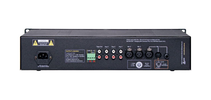 A4033C 30W 3 Input 100V Public Address (PA) Amplifier