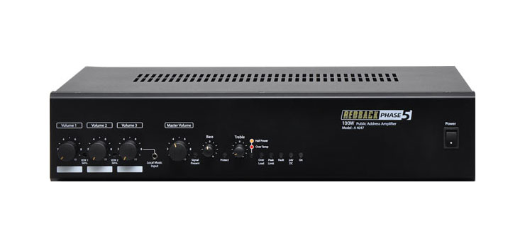 A4047 Phase5 100 Watt 100V Public Address Amplifier