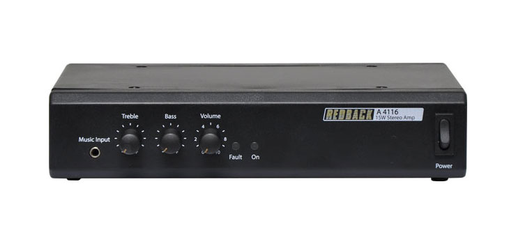 A4116 15W 8 Ohm Stereo Public Address (PA) Amplifier