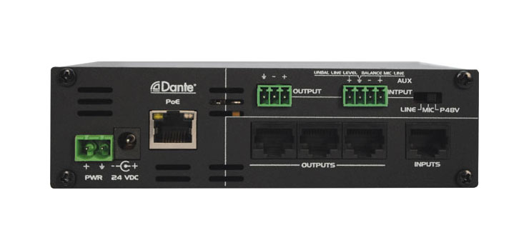 A4831 Dante 2 Input 4 Output Converter Interface Box