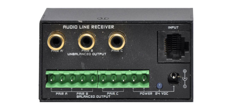 A4835 Active Three Pair Audio Signal Distribution Receiver