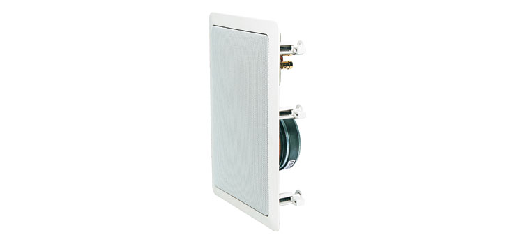 C0866 165mm 100W 2 Way Rectangular Platinum Ceiling Speaker Pair