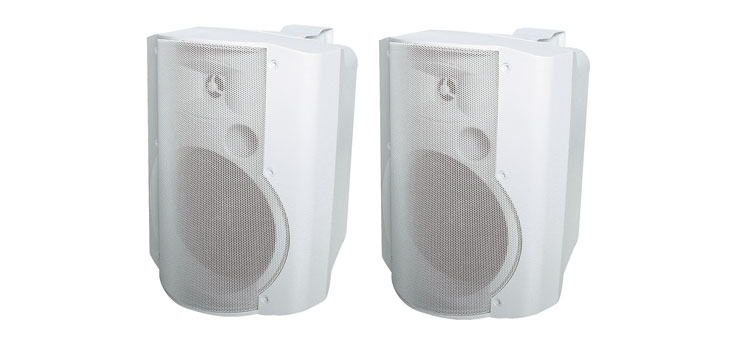 C0927 130mm 30W 2 Way White Active Speaker Pair