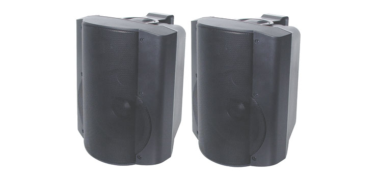 C0930 165mm 50W 2 Way Black Active Speaker Pair