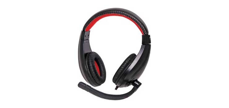 C9028B Stereo Headset With Electret Microphone
