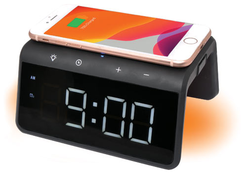 D2320 Wireless USB Charger Alarm Clock