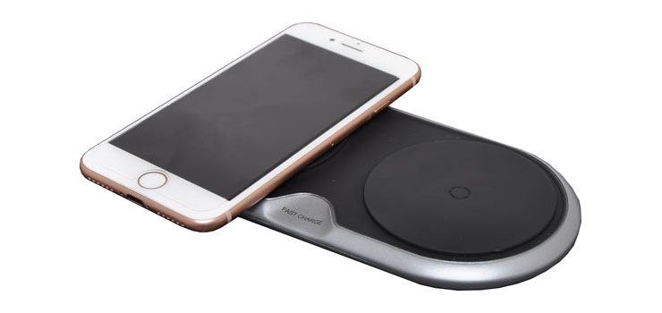 D2327 QI Wireless Dual Phone Fast Charging Pad