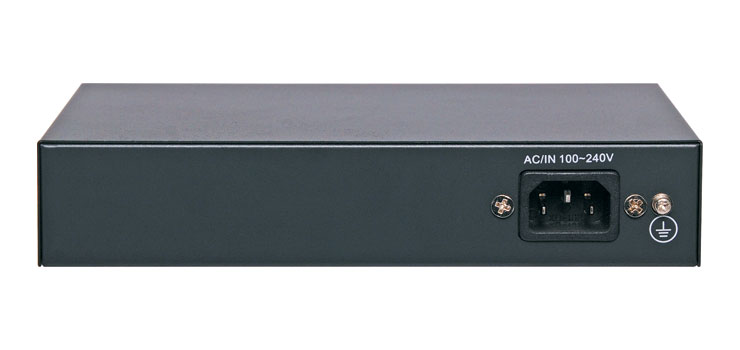 DE4212A 4 Port + 2 Link Ports PoE 10/100 Switch For IP Camera Systems
