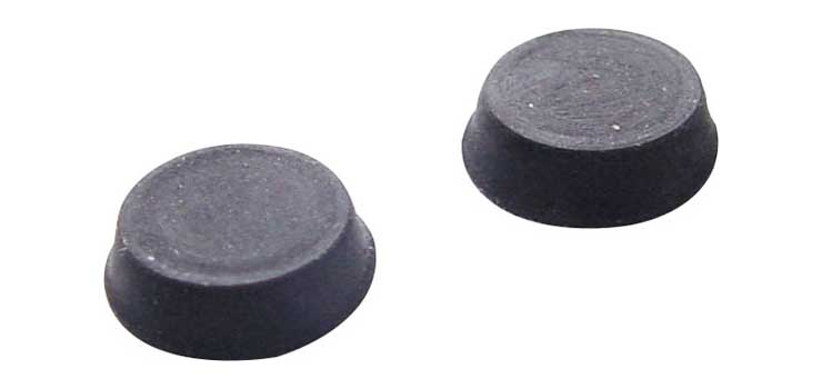 H0896 12mm Round Adhesive Slim Rubber Feet Pk4
