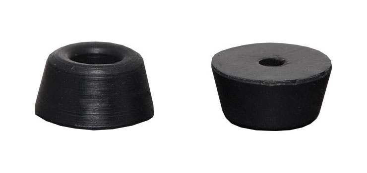 H0915 15mm Round Bolt On Rubber Feet Pk 1000