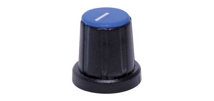 H6022 18mm Blue Cap D Shaft Plastic Knob