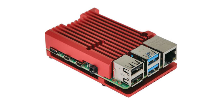 H8954 Red Armour Case To Suit Raspberry Pi 4