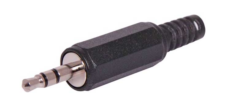P0030 3.5mm Stereo Black Jack Plug