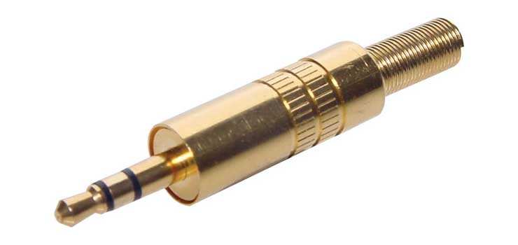 P0035 3.5mm Stereo Gold Metal Jack Plug