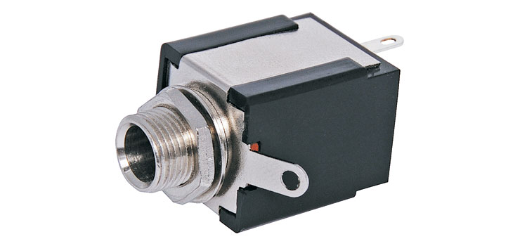 P0068 6.35mm Unswitched Non-Insulated Stereo Jack Socket