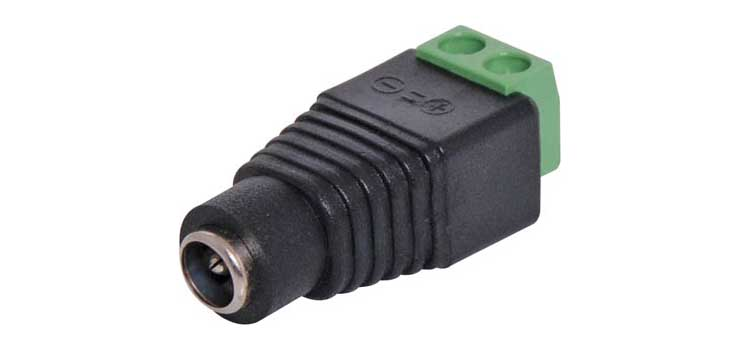 P0610A 2.1mm Screw Terminal Male DC Power Line Socket