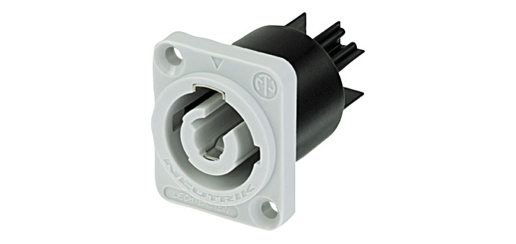Rated  20A//250V AC Gray New Neutrik NAC3MPB-1 Powercon Receptacle Power Out