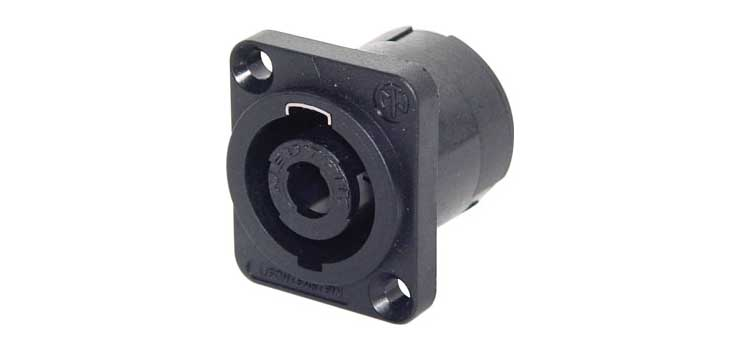 P0792 Speakon Socket Chassis Mount NL4MP