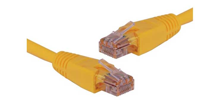 P1657 Yellow 5m Cat6 UTP Ethernet Patch Cable