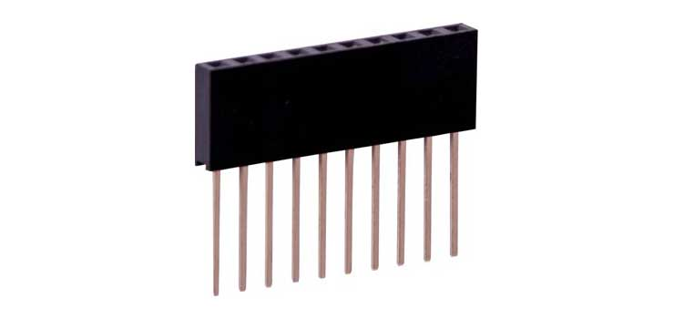 P5382 1 x 10 Pin 11mm Stackable Header Socket