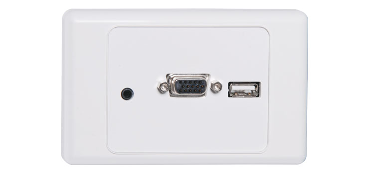 P5940 VGA Wallplate Dual Cover - Screw Connections