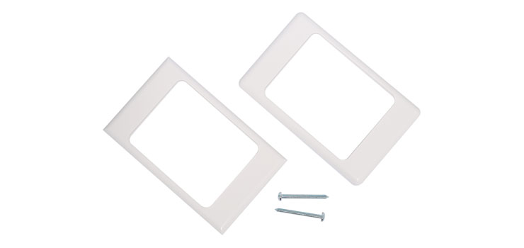 P5958 VGA 3.5mm USB B and RCA Wallplate Dual Cover Flyleads