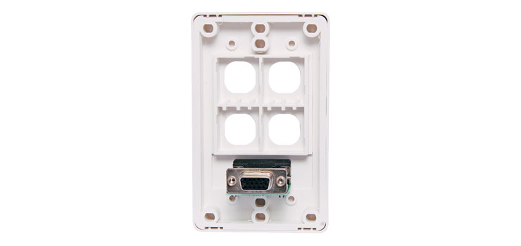 P5982 VGA with 4 x Mech Wallplate Dual Cover - Back to Back