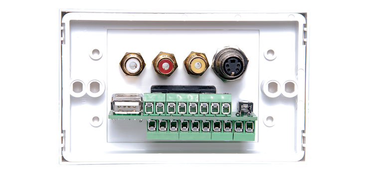 P6852 AV / USB Screw Connection HPM Excel Wallplate