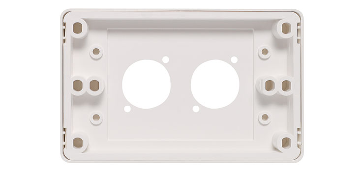 P8026 Wallplate For Dual D Series Connectors