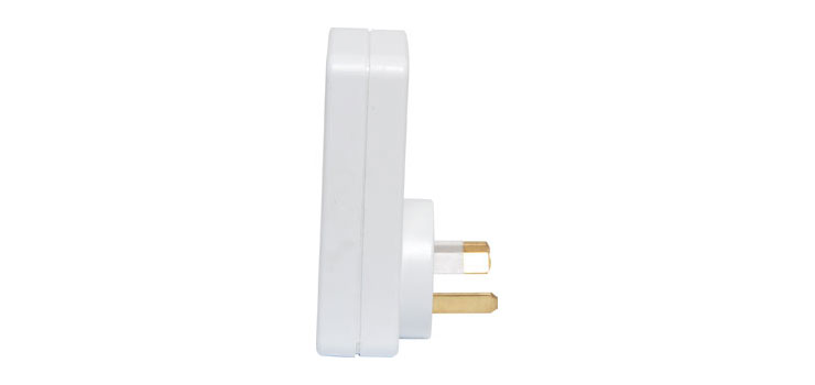 P8104 Mains Double Adaptor With Surge Protection