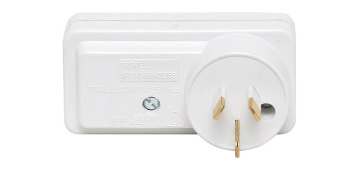 P8250A Mains Double Right Adaptor With Surge Protection