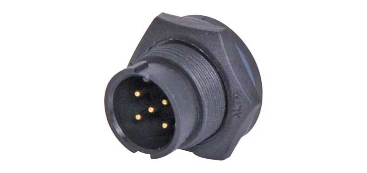 P9465A 5 Pin 5A Locking Male Chassis IP67 Waterproof Plug