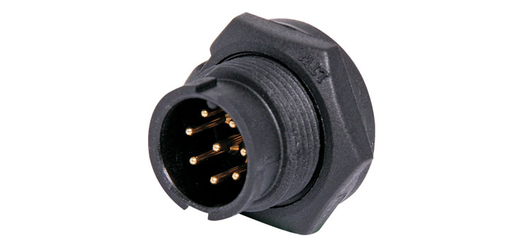 P9468 8 Pin 5A Locking Male Chassis IP67 Waterproof Plug