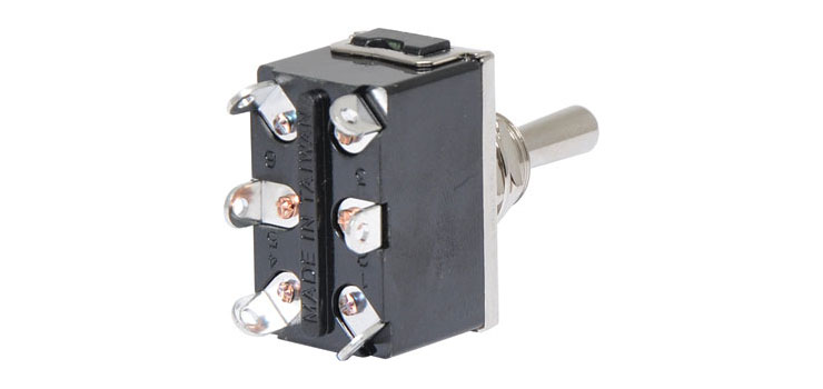 S1054  DPDT (On/Off/Mom On) 10A Heavy Duty Toggle Switch