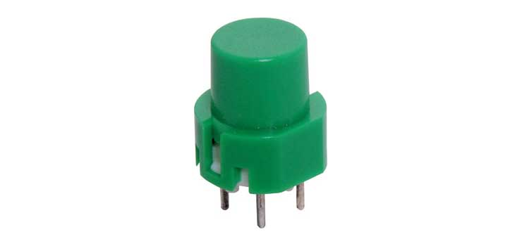 S1098 SPST Momentary Green PCB Mount Tactile Switch
