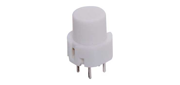 S1099 SPST Momentary White PCB Mount Tactile Switch