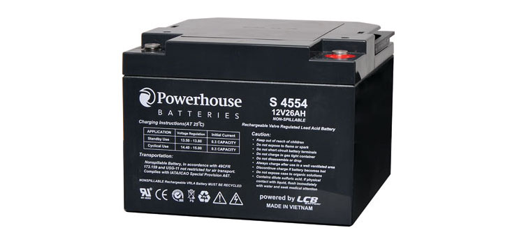 S4554 12V 26Ah Sealed Lead Acid (SLA) Battery M5