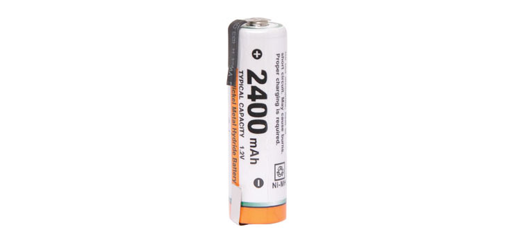 S4752 AA 2400mA NiMH Rechargeable Battery Solder Tag