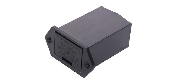 S5049 9V Battery Holder Flush Mount