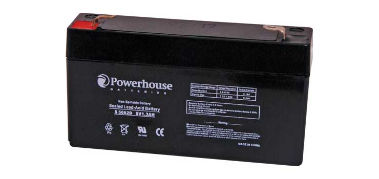 S5062D 6V 1.3Ah Sealed Lead Acid (SLA) Battery