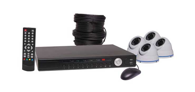 S9900F 1080p AHD Real Time CCTV DVR And 4 Camera Dome Package