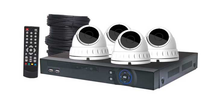 S9900G 4MP AHD Real Time CCTV Hybrid DVR + 4 Camera Dome Package