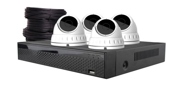 S9900H 4MP Surveillance CCTV DVR + 4 Camera Dome Package