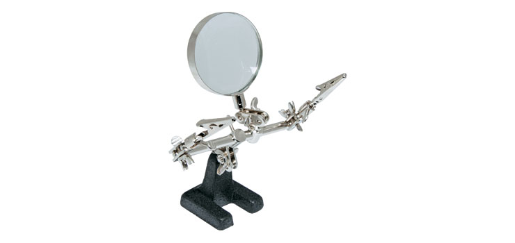 T1460A PCB Holder Solder Stand And Magnifier